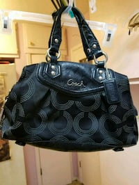 black and gray leather Coach purse Bedford, 76021