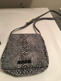 black and gray snakeskin leather crossbody bag Laval, H7X 3P4