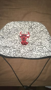 White and black floral print textile Chicago bulls bucket hat Toronto