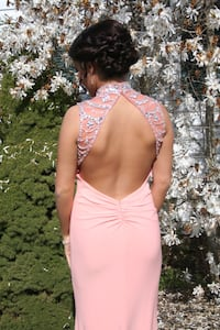Coral Sequin Prom Dress Size 2 16 mi