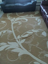 brown and white floral area rug Regina, S4R 7C5