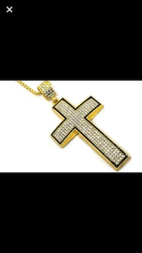 Gold dipped pendant with chain Edmonton, T6T 1M2