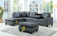 Brand new grey sectional couch includes ottoman  Norfolk, 23505
