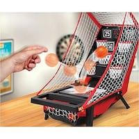 "NEW Portable Tabletop arcade Basketball Game toy Great Christmas Gift 10.5"" L x 15.5"" W x 15.25"" H 1 Or 2 Player Mode Easily folds for storage or travel Electronic display features digital scorekeeper and countdown timer Comes from a pet-free and smoke-fr Ventura"