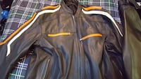 Heavy motorcycle jacket w removable liner 3x