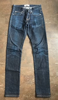 Naked and Famous super Skinny Guy left hand twill raw denim Selvedge