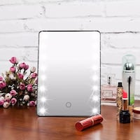 White LED Makeup Cosmetic Vanity Table Mirror Touch Screen Portable  Richmond Hill, L4C 8Y5
