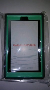 Kindle fire 8 hd case and glass screen protector Throop, 18512