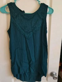Teal lace tank top Norfolk, 23513
