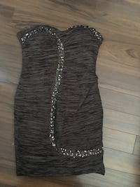 women's gray sweetheart cocktail dress