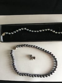 Black pearls real necklace, posts, bracelet Indian Harbour Beach, 32937