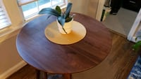 Walnut bar height table