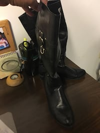 black leather knee high boots Randallstown, 21133