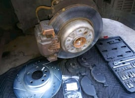 Brake pads, shoes & rotor replace