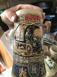 white and black ceramic beer stein Charles Town, 25414