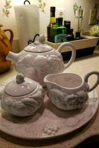 Beautiful , Elegant Tea Set on a Platter 57 km