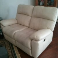 white leather padded sofa chair Lethbridge, T1K 1N4