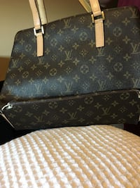 black and brown Louis Vuitton leather tote bag North Vancouver, V7R 2G1