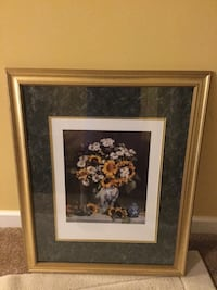 brown wooden framed painting of flowers Frederick, 21701