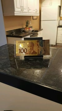 24k Gold Leaf Canadian $100 Hundred Dollar Bill Surrey, V3S