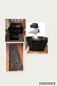 black wooden side table with drawer Lafayette, 70506