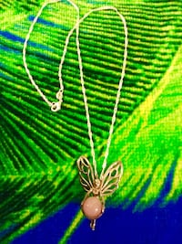 """Sterling silver large Butterly Fairy pendant with 18 """" inch long chain / Silver necklace"""