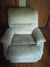 gray fabric recliner sofa chair 43 km