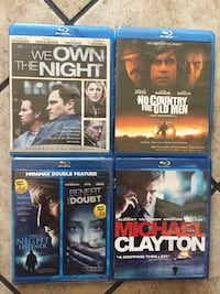 I have 4 used Blue ray movies for sale $2 EACH MOVIE !! Bell, 90201