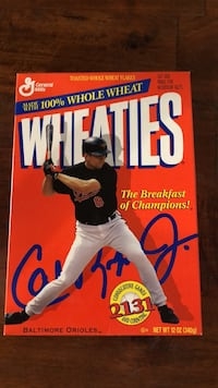 Cal Ripken Wheaties Box Washington, 20012