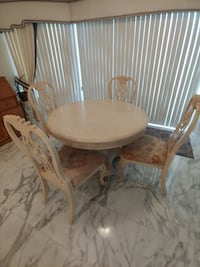 French provincial table and chairs.