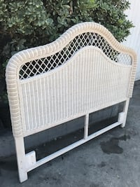 GORGEOUS Wicker Detailed Queen Shabby Chic Cottage Headboard- NEW LAST ONE! Buena Park, 90621