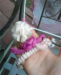 baby's white and pink headbands Parrish, 34219