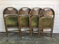 Vintage wooden folding chairs Takoma Park, 20912
