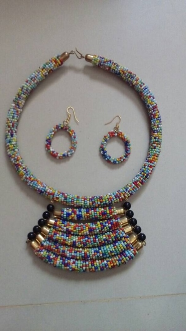 Necklace and earrings  hand made