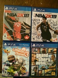 four assorted PS4 game cases Tonopah, 89049