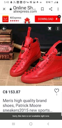Patrick Mohr red lether sneaker