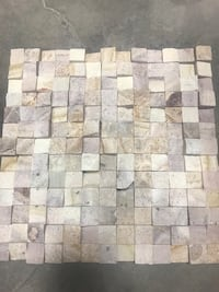 12x12 travertine 3D mosaics  Toronto, M9W 6S2