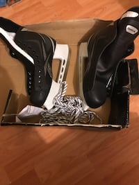 pair of black leather boots Brampton, L6V