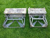 two white wooden folding chairs Chilliwack, V2R 3W9