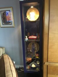 2 glass display cabinets with light $75 each  New York, 11217