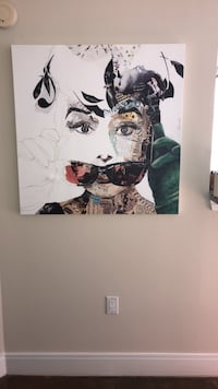 Audrey Hepburn Wrapped Canvas Baltimore, 21244