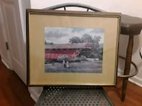 brown wooden framed painting of house Arnold, 63010