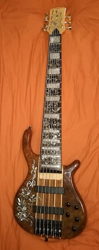 Handmade, 7 strings bass guitar, activ electronic Берген, 5161