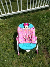 baby's pink and white Minnie Mouse bouncer Cambridge, 21613