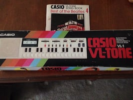 Casio vl-tone electronic instrument and calculator box, non working