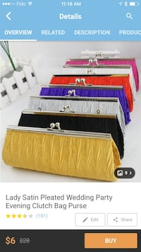 Pink lady satinpleated wedding party clutch bag purse Surrey, V3S 4P2