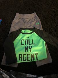 Under armor outfit long sleeve with sweatpants size 24 months worn once Kearney, 68845