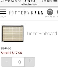 Pottery Barn Bedford Linen Pinboard (Crate and Barrel, west elm, ikea) Rockville, 20814