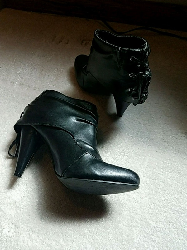 Charlotte Russe Black Heeled Boots