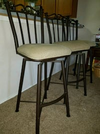 three brown wooden bar stools Roanoke, 76262